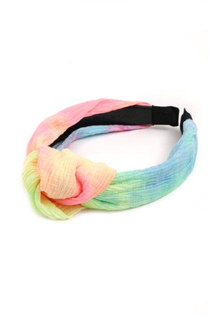 Rainbow Tie Dye Headband