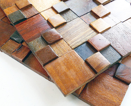 decorative wood wall tiles. Decorative Wall Tiles. Elegant Vintage Look Varnished Wood Mosaic. These Beautiful Solid Panels Are Handmade And They Have Look. Tiles A