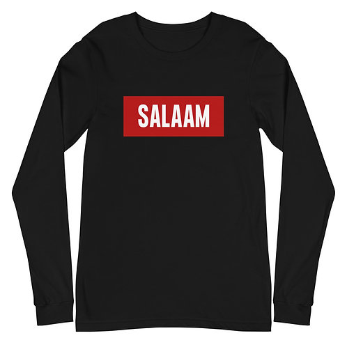 """Salaam"" Unisex Long Sleeve Tee"