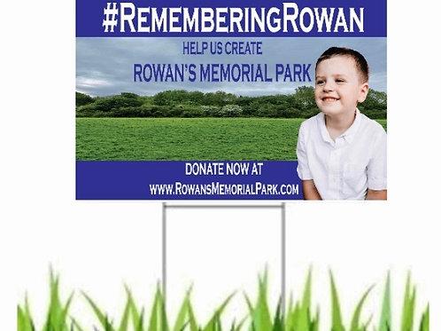 1 x Rowan Memorial ParkYard Sign