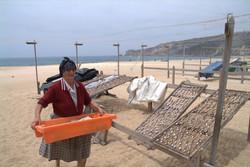 Nazaré - dry fish on the beach