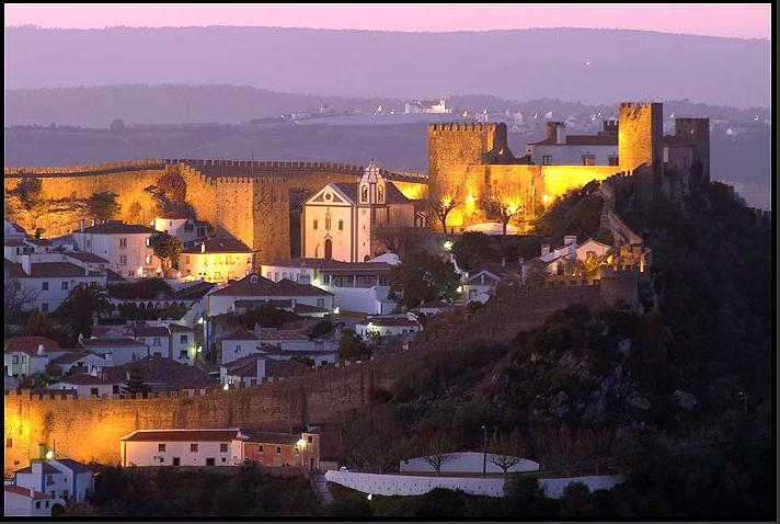 Óbidos at night