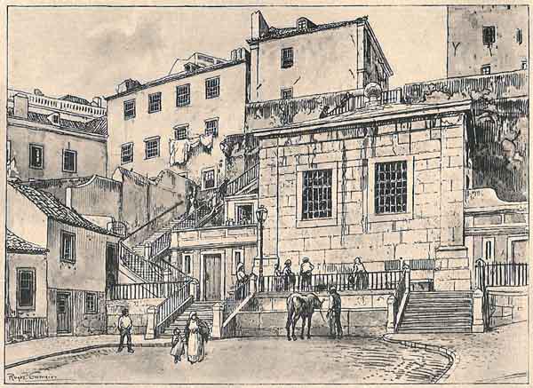 Chafariz da Alegria in 1840