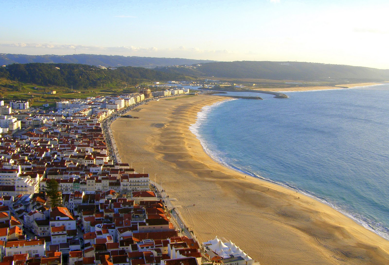 Nazaré from the viewpoint