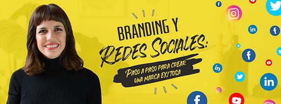 Banner curso branding y redes sociales