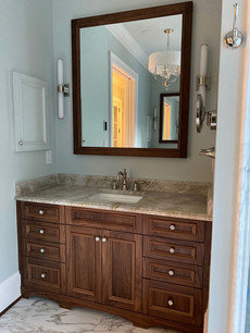 His and Her Master Bath Cabinets