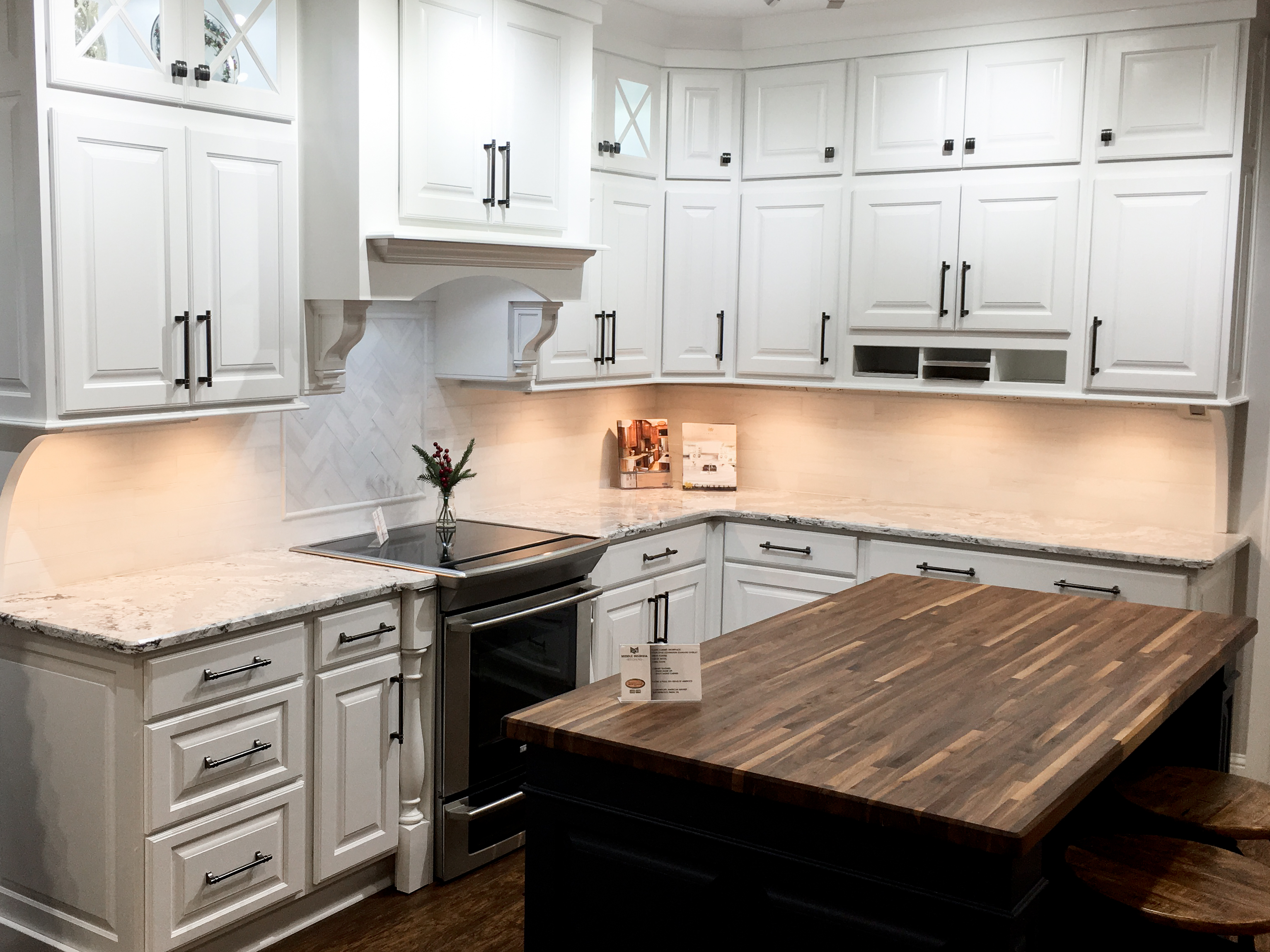 White Cabinets and quartz Macon, GA