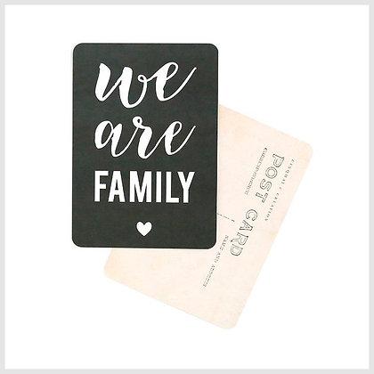 carte postale cinq mai we are family ardoise