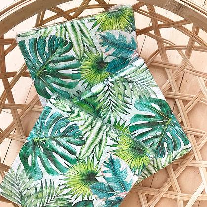 Serviettes cocktail en papier motif tropical jungle pour apéritifs, cocktails et réceptions d'été