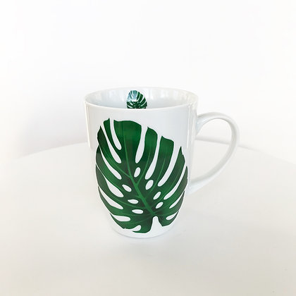 Tasse mug motif monstera