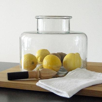 Grand vase en verre recyclé avec agrumes