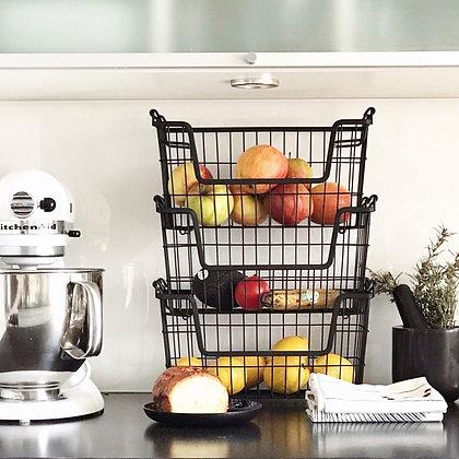 Paniers de rangement empilables pour fruits et légumes