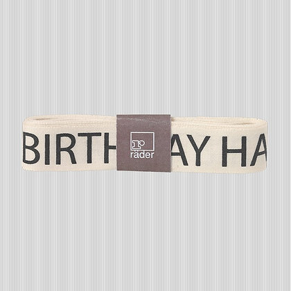 Ruban happy birthday pour emballage cadeau d'anniversaire