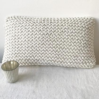 Coussin tricot coton