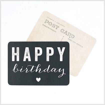 carte postale cinq mai happy birthday ardoise