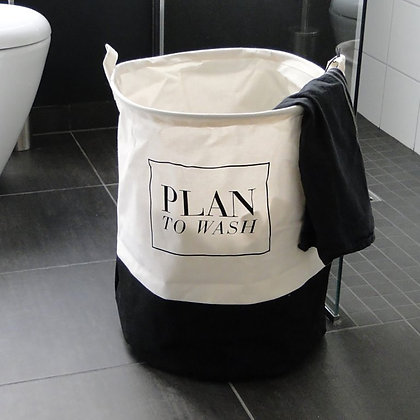 "Panier à linge ""plan to wash"""