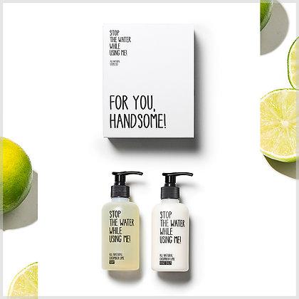 Coffret cadeau soin des mains bio - savon et crème - stop the water while using me
