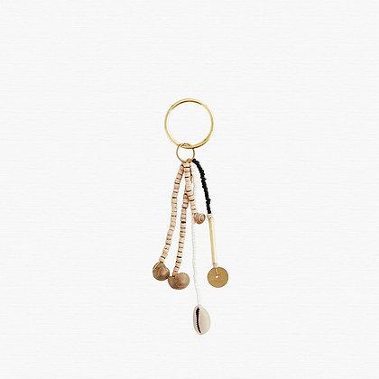 Porte clé perles et coquillages