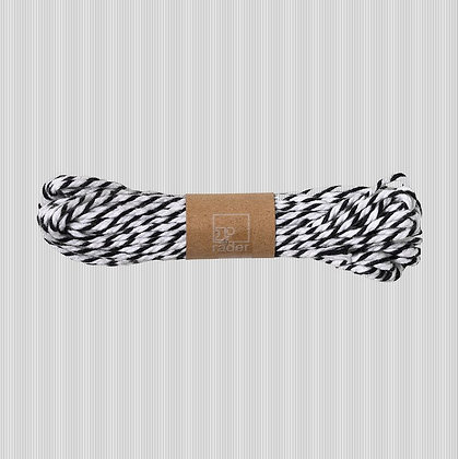 Ficelle coton noir et blanc