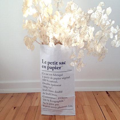 le petit sac en papier be-poles avec bouquet