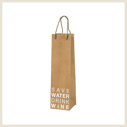 "Sac cadeau bouteille ""Save water drink wine"""