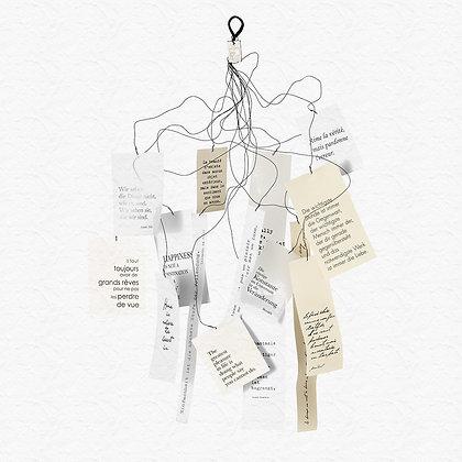 Mobile poétique avec citations en 3 langues