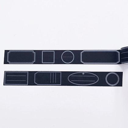 Ruban masking tape étiquettes ardoise