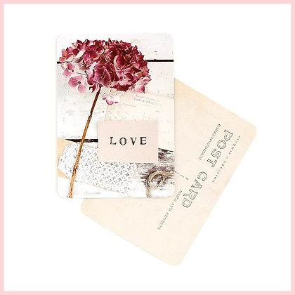 carte postale love hortensia