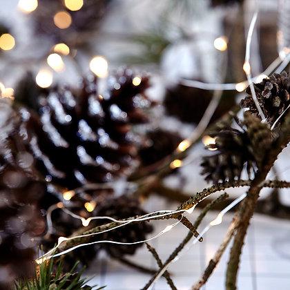 Guirlande à leds fil cuivre pour décoration de noël mariage fêtes