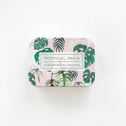 Boîte de pansements à motifs feuilles tropicales