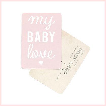 carte postale rose my baby love