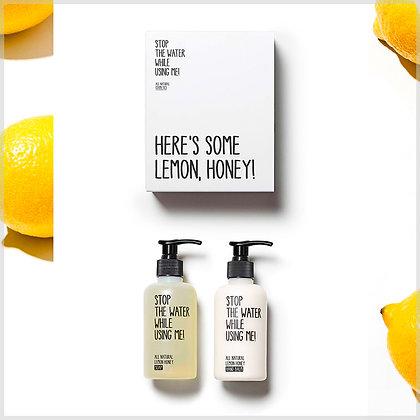 Coffret cadeau soins des mains bio - citron miel - stop the water while using me