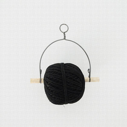 Dévidoir avec fil de jute noir à suspendre pour bricolages, emballages, jardin et maison