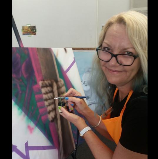 """Teresa painting """"Fond Memories"""""""