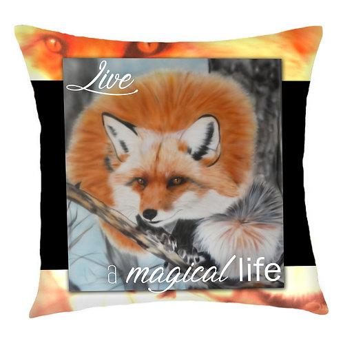 Kitsune Fox Cushion Cover