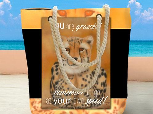 Sahara Cheetah Tote Bag