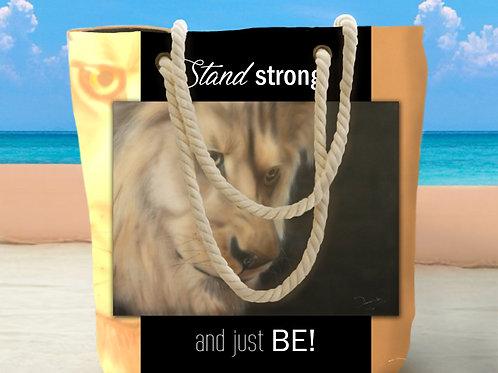 Mwindaji Lion Tote Bag