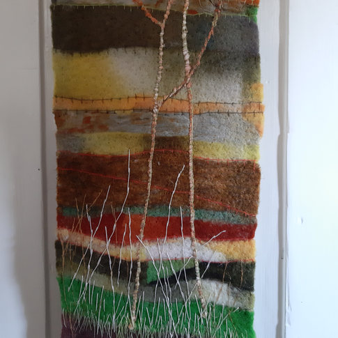 Cowparsley textile wall hanging