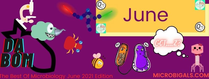 Graphical summary of The best of Microbiology news for June 2021.