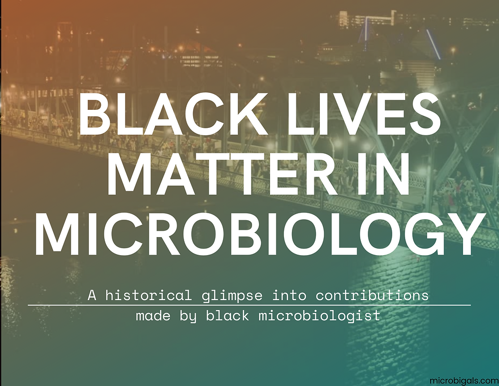 Black Lives Matter In Microbiology A Series on Famous Black Scientists and Famous Microbiologists
