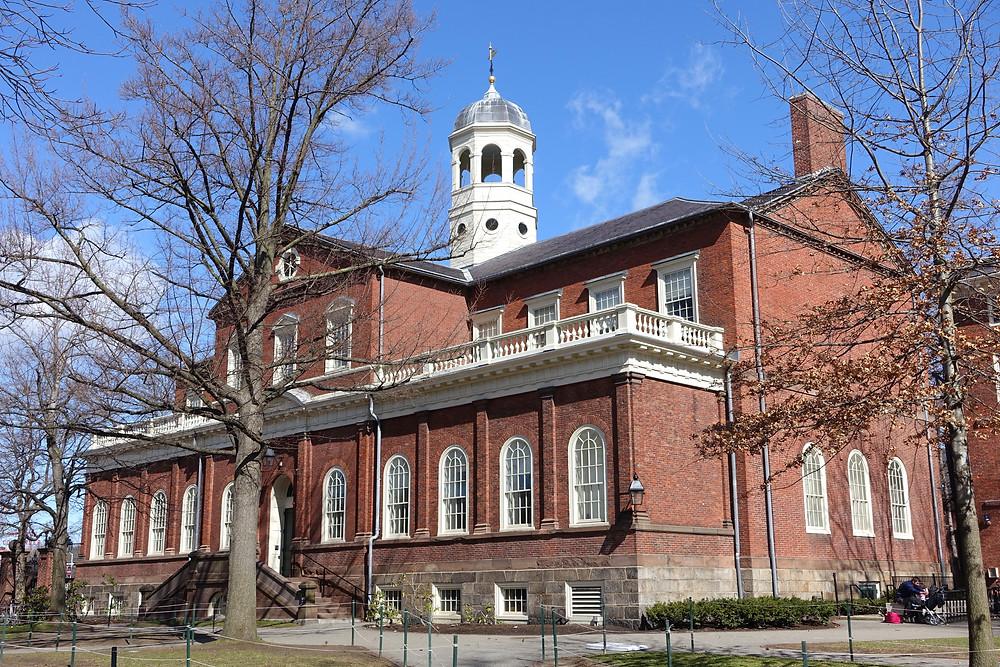 Harvard hall at Harvard University