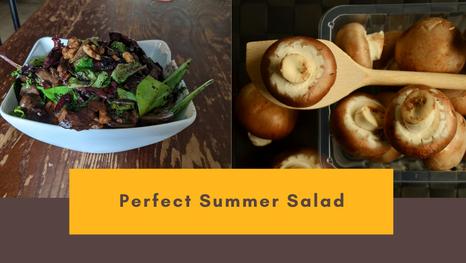 Perfect For Summer : 10 Minute Mushroom Arugula Salad