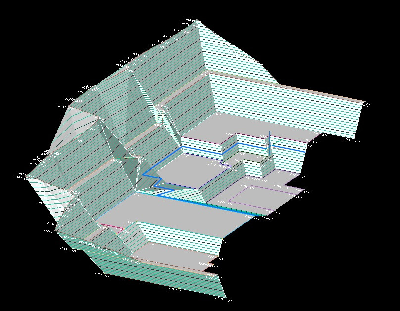 3D Geländemodell Baugrube für Maschinensteuerung