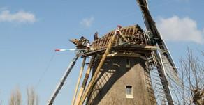 Nieuw dak voor de Veenmolen Wilnis