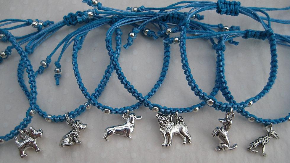 Dogs Neat Knot adjustable bracelets