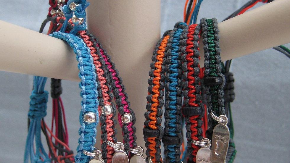 Skateboard Neat Knot adjustable bracelet