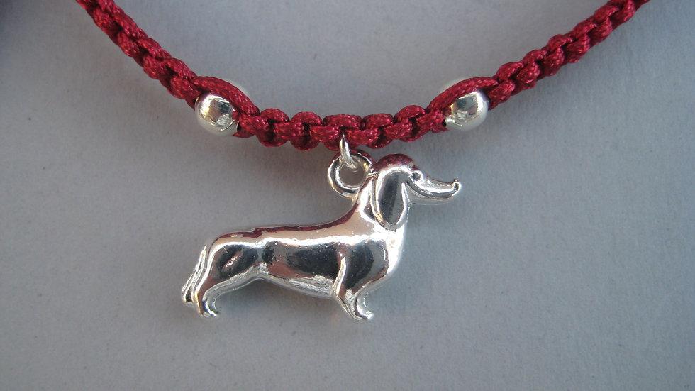 Dachshund Neat Knot adjustable bracelet