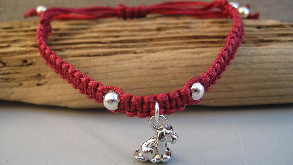 Small Dog Neat Knot adjustable bracelet