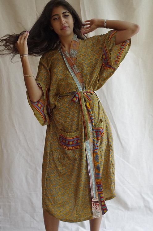 Baggy Kimono in Retro Print: multiple fabric options