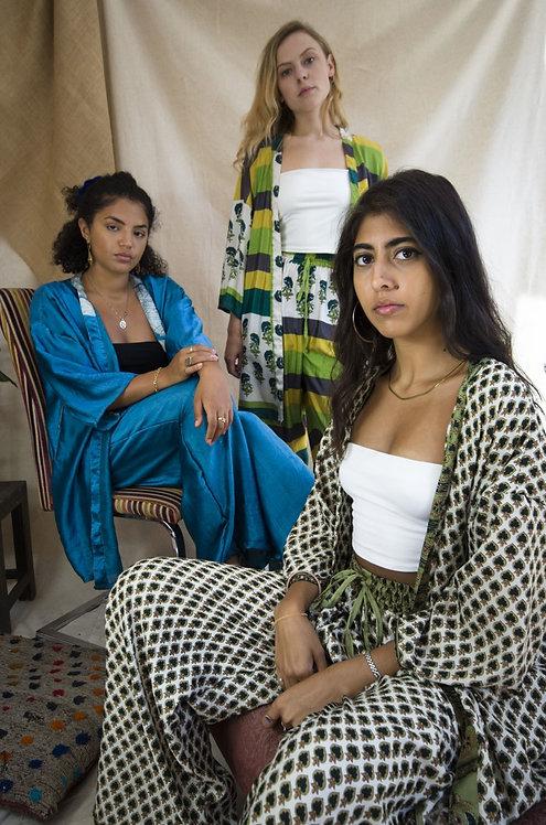 Kimono PJ Set (Size M: Multiple Fabric Options